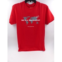 FORMULA FLOW WE AR RACQUETBALL GRAPHIC RED TSHIRT MENS SIZE M