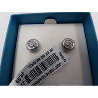 SIMPLY SILVER SIIMPLY BRILLIANT D1685 STERLING SILVER CZ ROUND STUD EARRINGS
