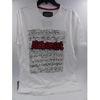 HERITAGE AMERICA GA-KT-466 WHITE ALCHEMIST T SHIRT MENS SIZE XL