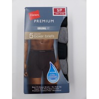 HANES 9HPWG5 5 PACK ASSORTED COLOR BOXER BRIEF MENS SIZE S