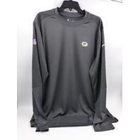 NIKE NKCP-543R DRI-FIT ON-FEILD GREENBAY PACKER ANTHRACITE LONG SLEEVE SHIRT XL