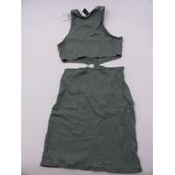 WINDSOR MDJ1097 DUSTY OLIVE DRESS WOMENS SIZE M