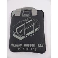 """LEWIS N.CLARK DR08D3 HEAVY DUTY MEDIUM DUFFLE BAG 24""""X12""""X12"""" GREY"""