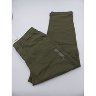 UNIQLO 341-422983 WASHED JERSEY ANKLE LENGTH OLIVE PANTS MENS SIZE L