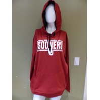 CAPTIVATING 12052 OKLAHOMA POLYESTER FLEECE HOODIE CARDINAL MENS SIZE XL