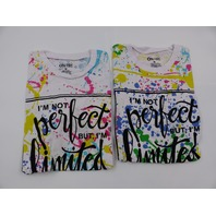 *2 ON FIRE 10293603 IM NOT PERFECT BUT IM LIMITED EDITION MULTI TSHIRT WOMEN M