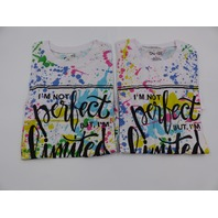 *2 ON FIRE 10293611 IM NOT PERFECT BUT IM LIMITED EDITION MULTI TSHIRT WOMENS L