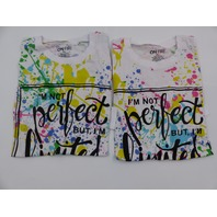 *2 ON FIRE 10293629 IM NOT PERFECT BUT I'M LIMITED EDITION MULTI SHIRT WOMENS XL