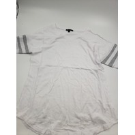 AMBIANCE WHITE AND GRAY V NECK TOP L PACK OF 2