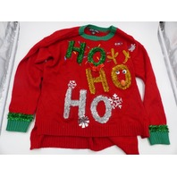 UNITED STATES SWEATERS HO HO HO CHRISTMAS SWEATER RED GREEN GOLD SILVER XL
