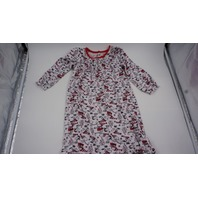 PEANUTS TODDLER SNOOPY CHRISTMAS NIGHTGOWN WHITE/RED 4T