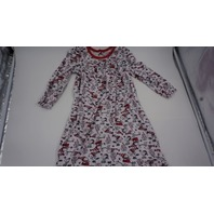 PEANUTS TODDLER SNOOPY CHRISTMAS NIGHTGOWN WHITE/RED 3T