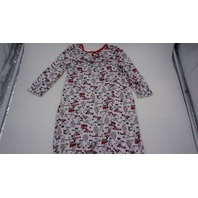 PEANUTS TODDLER SNOOPY CHRISTMAS NIGHTGOWN WHITE/RED 2T