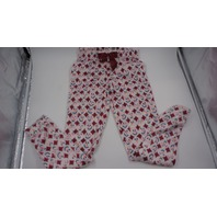 SLEEP ON IT GIRLS CHRISTMAS FLEECE PAJAMA PANTS WITH SNOWMEN WHITE/RED/BLUE L