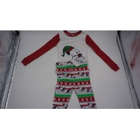 PEANUTS CHRISTMAS SNOOPY TODDLER PAJAMAS RED/GREEN/WHITE 4T