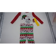 PEANUTS SNOOPY TODDLER PAJAMAS RED/WHITE/GREEN 2T