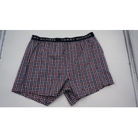 TOMMY HILFIGER PLAID BOXERS RED/BLUE/WHITE L