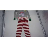 THE CHILDRENS PLACE GLOW IN THE DARK SANTA PAJAMAS RED/WHITE/GREEN/GREY 2T