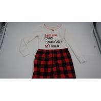 CARTERS SANTA SAYS I TRIED TODDLERS PAJAMAS 3T WHITE/RED/BLACK
