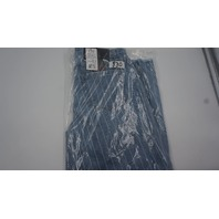 FDJ VERTICLE STRIPED HIGH RISE JEANS US 6 LIGHT BLU/WHITE