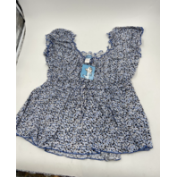 AMANDA PAIGE SLEEPWEAR 2 PIECE PAJAMA SET 3XL NAVY/LIGHT BLUE/WHITE