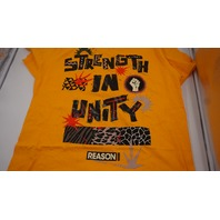 "REASON CLOTHING ""STRENGTH IN UNITY"" BLM AFRICAN SHORT SLEEVE TEE YELLOW/BLACK/RED XL"