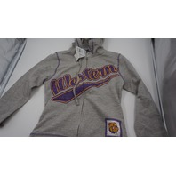 CREATIVE APPAREL CONCEPTS WESTERN COLLEGE FULL ZIP KIDS HOODIE GREY/PURPLE/YELLOW S