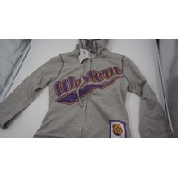 CREATIVE APPAREL CONCEPTS WESTERN COLLEGE FULL ZIP KIDS HOODIE GREY/PURPLE/YELLOW XL