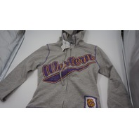CREATIVE APPAREL CONCEPTS WESTERN COLLEGE FULL ZIP KIDS HOODIE GREY/PURPLE/YELLOW XXL