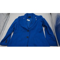 ABERDEENS TALBOTS ROYAL BLUE WOMENS BLAZER COAT SIZE 10