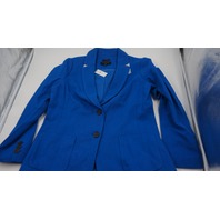 ABERDEENS TALBOTS ROYAL BLUE WOMENS BLAZER COAT SIZE 2