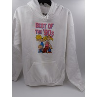 RUE21 8838 BEST OF THE 90'S WHITE PULLOVER UNISEX SIZE M