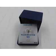LOVE THIS LIFE  WATCH OVER ME FINE SLIVER PLATED RING SIZE 8