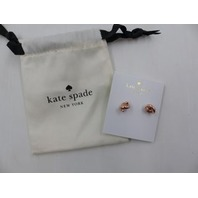 KATE SPADE NEW YORK WBRU7895 SAILOR KNOT  ROSE GOLD EARRINGS