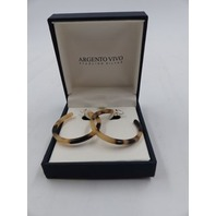 ARGENTO VIVO HOOP EARRINGS WITH BROWN GOLD