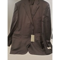 CANALI L13290/37 7R 64 MEN'S CHARCOAL BLACK SUIT NWT ABI01241737 10396P168