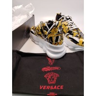 VERSACE UFC CHAIN REACTION 2 SHOES DSU7462 D41TG DNOB 40.5 BLACK GOLD WHITE