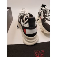 VERSACE CHAIN REACTION 2 SHOES SNEAKERS DSU7462 DTP1G DNWR 40.5 BLACK WHITE RED