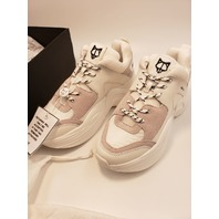 NAKED WOLFE TRACK SNEAKERS WHITE CHUNKY PLATFORM US 8 EUR 38