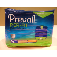 PREVAIL PF-514 PER-FIT DAILY UNDERWEAR X-LG EXTRA ABOSROBENCY 14 COUNT XL
