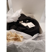 THE ROW AUDREE HOODED CASHMERE HERRINGBONE COAT ANTHRACITE S NWT $14000
