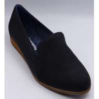 DR SCHOLLS AMERICAN LIFESTYLE  COLLECTION BLACK DAWNED US WOMEN 7.5 M FLATS
