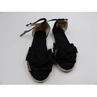 JANENOLBY FLAT BUCKLE BREATHABLE WOMENS BLACK SANDALS SIZE 5