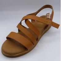 ROGUE VARIETY-04S TAN BNH US WOMEN 9 WEDGE SANDALS