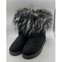ROUGE FROZEN-03 BLACK SUEDE WOMENS BOOTS SIZE US WOMENS 8.5