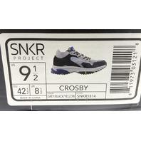 SNKR PROJECT CROSBY GREY/BLACK/YELLOW MENS SNEAKER SIZE US MENS 9.5 EU 42.5