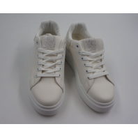 LACE UP FLATFORM TRAINER A18 SILVERY WOMENS SIZE 40