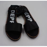 DEPP WIDE FIT LEATHER TWO PART FLAT SANDAL WOMENS SIZE UK 7