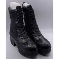ROUGE POWERFUL-37 BLACK SUEDE WOMENS BOOTS SIZE US WOMENS 8.5