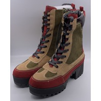 ROUGE POWERFUL-37 BURGUNDY WOMENS BOOTS SIZE US WOMENS 8.5